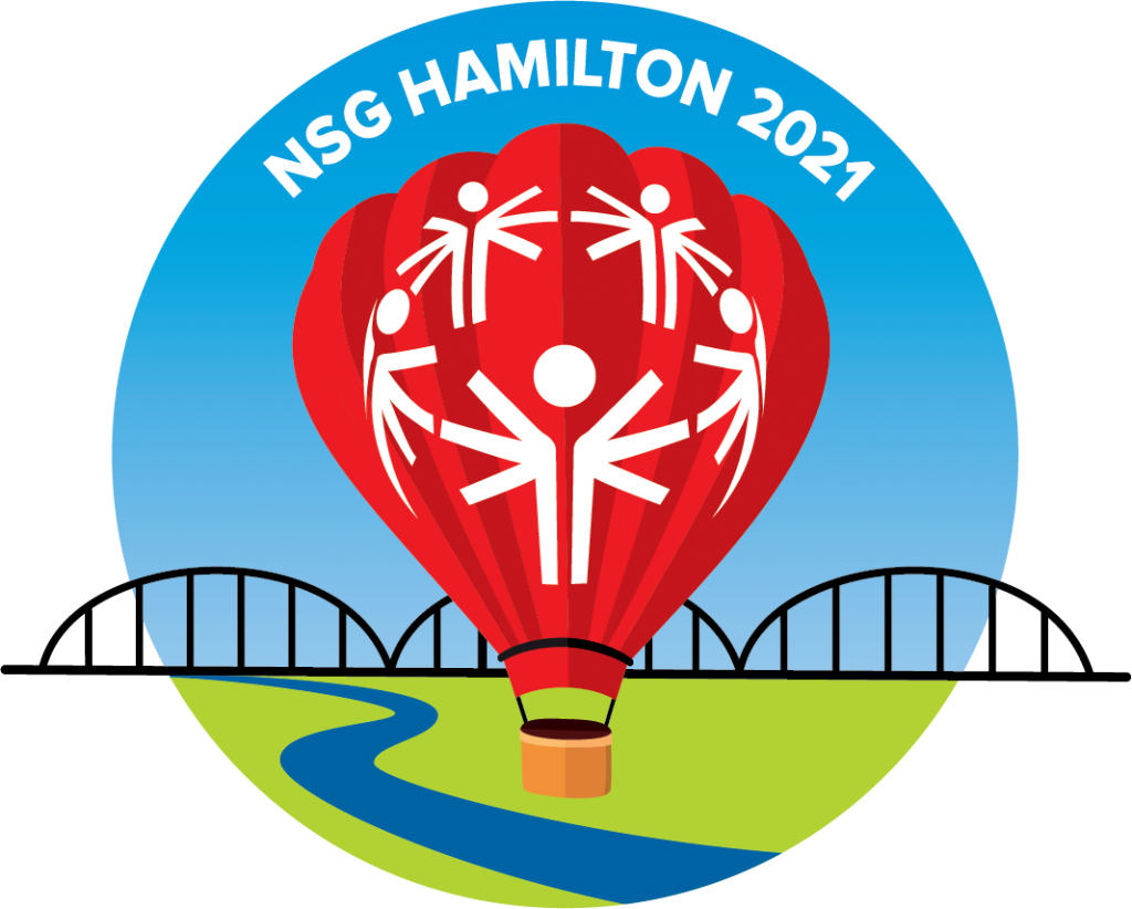 The circular version of the National Summer Games 2021 Logo